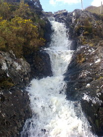 Waterfall at Killary Harbour on the Wild Atlantic Way