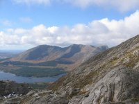 View of Derryclare and Bencorr from the Maamturks