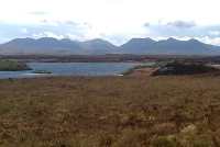 Roundstone Bog with the 12 Bens in the Distance