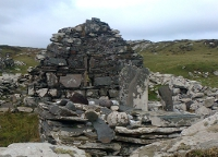 Remains of Caher Island monastic chapel