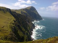 Clare Island's spectacular cliffs at Alnamarnagh