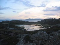 View along the Cloonamore looped walk on Inishbofin