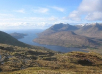 View of Killary Fjord and Mweelrea from Leenane Hill