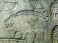 Detail of O'Malley coat of arms