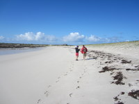 Beach walk on Finish Tidal Island